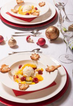 Vanilleroomijs met warme vruchten - Keuken♥Liefde