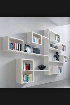 Unique wall shelving idea