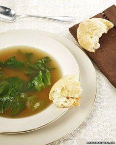 Kosher Recipes // My Mother's Chicken Escarole Soup Recipe