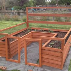 I have my garden box all put together now and the plants all planted. Tomatoes, peppers, onions, golden potatoes, cucumbers, yellow squash. Yum I still need to hang the gates. - Gardening Trips