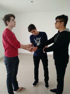 Cellbit, Pac e Mike mudaram para São Paulo e estão em uma casa para os três.