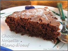 gâteau chocolat-noisettes sans jaunes d'oeufs