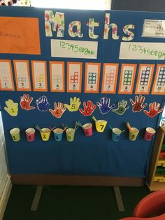 Maths wall in eyfs, cornerstones curriculum, eyfs, foundation stage, reception c- MATHEMATIC HISTORY Maths Eyfs, Numeracy Activities, Preschool Math, Kindergarten Math, Classroom Displays Eyfs, Eyfs Classroom, Classroom Walls, Maths Working Wall, Math Wall