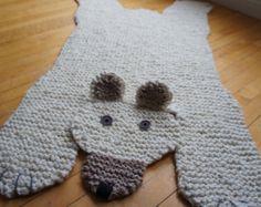 A mano a maglia stuoia coperta tappeto 285 gatto di WolverineKnits