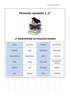 BLOG EDUKACYJNY DLA DZIECI Learn Polish, Polish Language, Gernal Knowledge, Montessori, Hand Lettering, Study, Classroom, Education, Learning