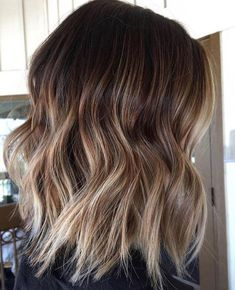 Long Wavy Ash-Brown Balayage - 20 Light Brown Hair Color Ideas for Your New Look - The Trending Hairstyle Hair Color And Cut, Ombre Hair Color, Brown Hair Colors, Brown Blonde Hair, Light Brown Hair, Dark Hair, Brunette With Blonde Balayage, Medium Hair Styles, Short Hair Styles