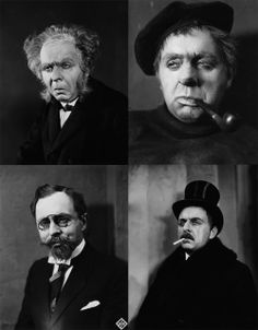 """The many faces of Rudolf Klein-Rogge as Dr. Mabuse in """"Dr. Mabuse, Der Spieler"""" (Dr. Mabuse: The Gambler), directed by Fritz Lang, 1922."""