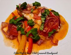 Edels Mat & Vin: TORSK PICCATA ! Thai Red Curry, Protein, Ethnic Recipes, Red Peppers