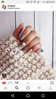 What Christmas manicure to choose for a festive mood - My Nails Shellac Nails, Nail Manicure, Acrylic Nails, Cute Nails, Pretty Nails, Fox Nails, Nails Only, Luxury Nails, Elegant Nails