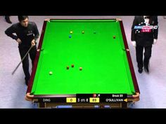 Ronnie O'Sullivan is a master of snooker. Outside of some very special circumstances, 147 is the maximum score, and here he is getting that for the time in his career. His opponent, Ding Junhui looks on in abject boredom. Neil Robertson, Mark Selby, Shaun Murphy, Ronnie O'sullivan, Sporting Live, Only Play, Perfect Game, Poker Table