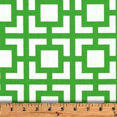 "Two  96"" x 50""  Custom Curtain Panels - Kelly Green Geometric Squares"