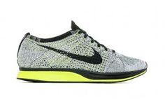 Comprar Originales Zapatos Nike Flyknit Racer Hombre 40307-357 Voltios Blanco Negro Zapatillas running