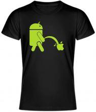 Coolove tričko Android piss on Apple, pre všetkých fanúšikou Androidu, kvalitné UNISEX tričko, 100% bavlna.