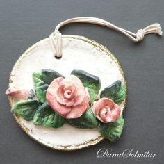 medalion z różą/masa solna/porady/tutorial Salt Dough, Home Decor, Cold, Porcelain Ceramics, Salt, Decoration Home, Room Decor, Interior Decorating