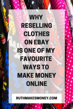 Want to make some extra cash from home? Selling clothes from charity shops and yard sales is one of my favourite ways to create an online income stream, and this guide shows you why you should consider it too! Making Money On Ebay, Make Money From Home, Way To Make Money, How To Make, Ebay Selling Tips, Selling Online, Ebay Tips, Selling Photos, Online Sales