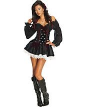 Sexy Pirate Costumes - Sexy Swashbuckler Playboy Womens Pirate Costume