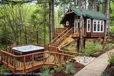 Tree house,  with a hammock instead of the hot tub