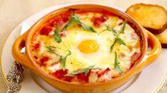 Learn how to make Italian Baked Eggs, for a lovely breakfast. We Love Ya, Dominic & Frank #EverybodyLovesItalian www.EverybodyLovesItalian.com