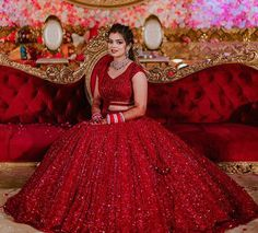 Bridal Lehenga Colour Palettes and What They Represent Designer Bridal Lehenga, Wedding Lehenga Designs, Indian Wedding Lehenga, Bridal Lehenga Choli, Red Lehenga, Indian Bridal Outfits, Indian Bridal Fashion, Pakistani Bridal Dresses, Indian Bridal Wear