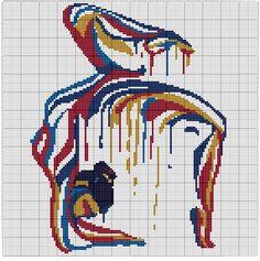 Modern yoga cross stitch, polygon gymnast woman silhouette cross stitch, sexy body cross, Modern Pop Art Abstract Geometric cross stitch Girl's drip Body naked cross stitch polygon cross stitch Dragon Cross Stitch, Small Cross Stitch, Modern Cross Stitch, Cross Stitch Charts, Counted Cross Stitch Patterns, Cross Stitch Designs, Cross Stitch Embroidery, Etsy Embroidery, Embroidery Patterns
