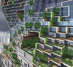 'dancing apartment' by korean firm unsangdong architects incorporates terraces in each unit.