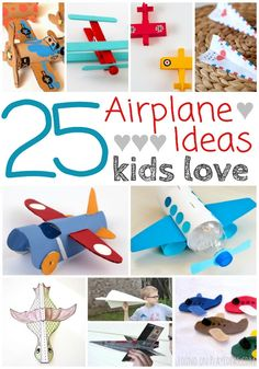 Airplane crafts kid will love! Click now!