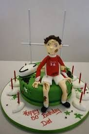 Image Result For Rugby Cake Topper Football Themed Cakes Birthday