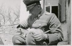 An Officer and a cat