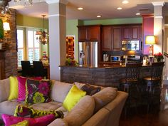 Green amp Purple On Pinterest Living Rooms