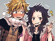 Fairy Tail Nalu and Gale kids Gale Fairy Tail, Fairy Tail Amour, Anime Fairy Tail, Fairy Tail Comics, Fairy Tail Funny, Fairy Tail Natsu And Lucy, Fairy Tail Guild, Fairy Tail Gruvia, Couples Fairy Tail