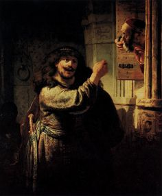 rembrandt-art:Samson Accusing His Father in Law, 1635 Rembrandt