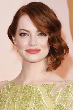 Oscars 2015 Celebrity Hairstyles and Makeup: Emma Stone  #Oscars #hairstyles #hair