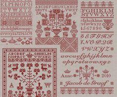 Special offer 2 pounds off  4 Sampler Patterns  by modernfolk, £11.00