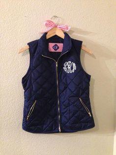 monogrammed quilt vest                                                                                                                                                                                 More