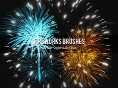 pinceles fuegos artificiales