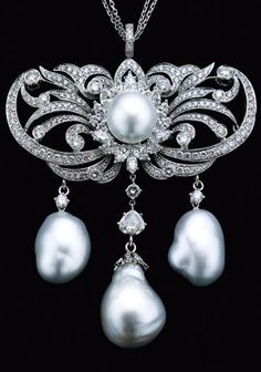 South Sea Pearl and Diamond Brooch from Middleton's