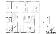 Specifications: Ground Floor is designed in 107 Square Sq.Ft) Porch Sit out Living room Dining Hall Bedrooms : 3 Toilet attached : 2 Bath Kitchen Work area Stair Views All Views Beautiful House Plans, Dream House Plans, Small House Plans, Small Cottage Designs, Small House Design, Home Design Plans, Plan Design, Stairs In Kitchen, Courtyard House Plans
