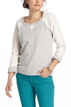 Raglan Scoopneck Sweatshirt by t.la #anthropologie