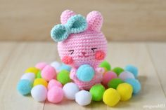 This Easter Bunny Amigurumi is the perfect size to stuff in a basket. Check out the pattern by Amigurumei!