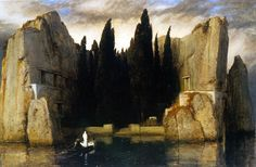 Arnold Bocklin, The Isle of the Dead 1883 Oil on panel, 80 x 150 cm Nationalgalerie, Berlin
