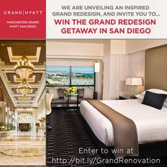 I just entered to win an amazing #SanDiego getaway including 2 nights, spa & dining at the newly renovated Manchester @ManchesterGrandHyatt. Enter by clicking the image now!
