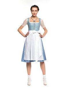 Dirndl Alpenfräulein in Hellblau von Limberry (mit weißer Schürze)
