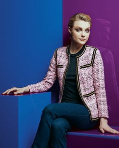 Michael Simon Tweed Chain-Trim Jacket, Women's - Neiman Marcus