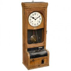 """Mechanical Time Clock by """"Bürk-Bundy"""" : Lot 55"""