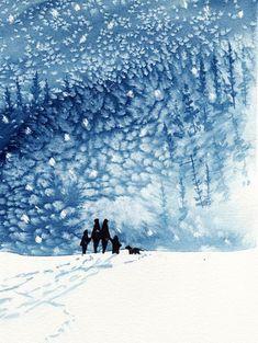 snow storm walk..... Great job with the salt effect! ....