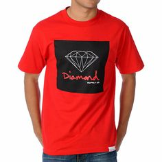 Get your shine on with the OG Sign tee shirt in the red colorway from Diamond Supply Co, featuring a custom big n' bold Diamond Supply Co front graphic that is all about smooth style made for the streets. So don't wait, grab the OG Sign tee shirt from Dia