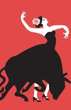 Carmen, opera illustration by Cristina Byvik