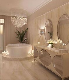 The way you decorate your home is somehow similar to choosing beautiful clothes to wear on a daily basis. An impressive interior decoration of your home or office is essential for your own state of mind, if nothing else. Interior Design Career, Decor Interior Design, Luxury Interior, Interior Decorating, Bathroom Design Luxury, Modern Bathroom, Bathroom Designs, Dream Bathrooms, Beautiful Bathrooms