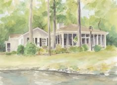 Susan Woodard house8 620x455 House Portraits: A Perfect Gift