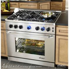 Oven and Cooktop in Island | 36'' Freestanding Gas Range With 5.4 Cu. Ft. Manual Clean Oven ...